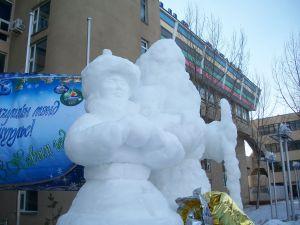 Snow sculptures: Check.