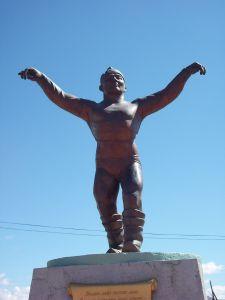 Eagle dance statue.