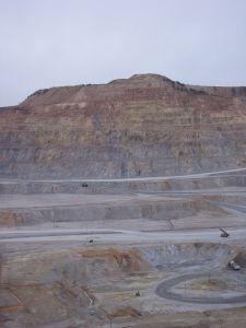 Copper mines.