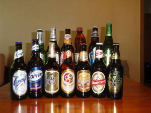 A wonderful selection of Mongolian beers.