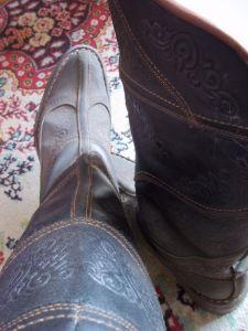 Mongolian boots.