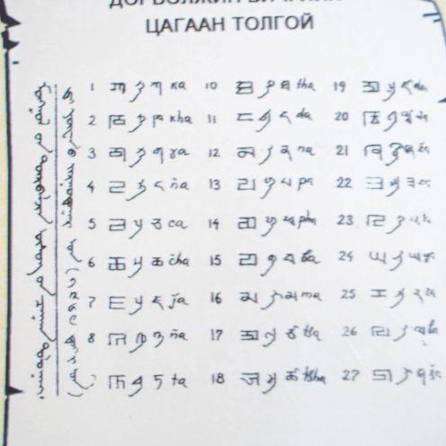 Cube script letters.