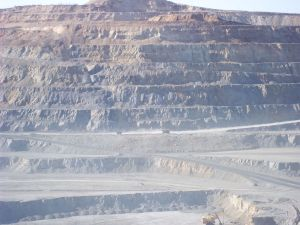 Mining pit.