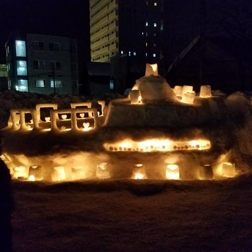Glowing Snow Scene - Two Second Street - www.twosecondstreet.com